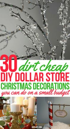 Who doesn't want to decorate their home for the holidays? These DIY Dollar Store home decor ideas will get you festive on a small budget. Dollar Store DIY Christmas Decor and Crafts to make your home look beautiful this Christmas. crafts to sell Dollar Tree Christmas, Dollar Tree Crafts, Christmas Diy, White Christmas, Cheap Christmas Crafts, Christmas Budget, Colorful Christmas Tree, Beautiful Christmas, Spring Decoration