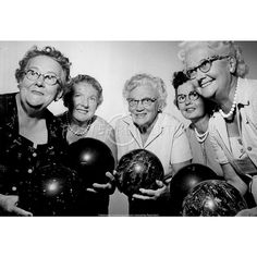 Women's 1962 Bowling Team Archival Photo Poster