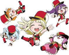 The BanG Dream! Anime Chibi, Anime Art, Picture Credit, Kokoro, Girl Bands, Characters, Stickers, Games, World