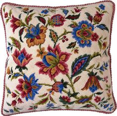 An attractive design in wonderful rich shades for todays furnishings. Kit includes 12 count interlock canvas, Appletons tapestry wool for