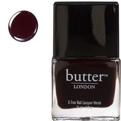 Butter London coloris La Moss, noir-rouge profond commandé chez Univeda