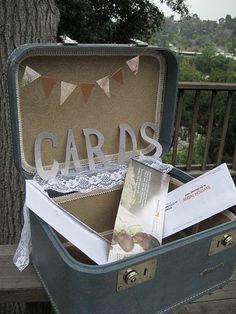 DIY Wedding Card suitcase box