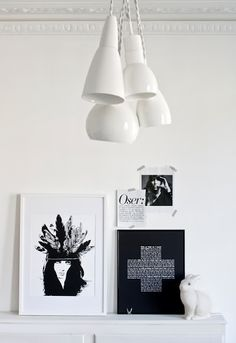 Black and white decor, Swiss cross art