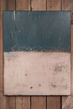 Original Abstract Color Field Painting Mid Century Gray Blue