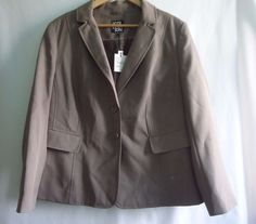 NWTS Debenhams THE COLLECTION LADIES TAUPE BLAZER BUSINESS STYLE JACKET SIZE 20