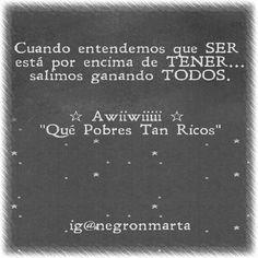"""NOVELA: """"Qué Pobres Tan Ricos"""". Awiiwiiiii♡ (By me: ig@negrónmarta)"""
