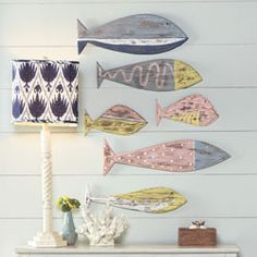 Reclaimed Wood Fish...I want these!