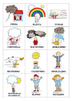Картинки погода для ребенка