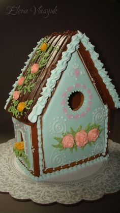 """Gingerbread house """"Mint mood"""". 