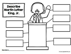 Describe Mlk Jr Worksheet Martin Luther King Jr Unit In
