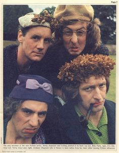 Four Pythons: Michael Palin, Eric Idle, Terry Jones & Graham Chapman (Monty Python's Flying Circus) Monty Python, Eric Idle, Terry Jones, Michael Palin, Terry Gilliam, British Comedy, British Humor, Cinema, Cultura Pop