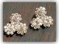 18K Silver Plated Women's Swarovski Crystal Earrings Jewellery - http://elegant.designerjewelrygalleria.com/swarovski/18k-silver-plated-womens-swarovski-crystal-earrings-jewellery/
