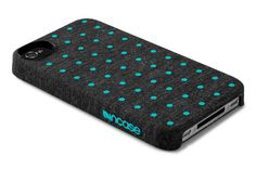 """We've taken our popular Snap Case, covered it with heathered fabric, and added colored dots for a bit of fun."" Best iPhone case ever!"