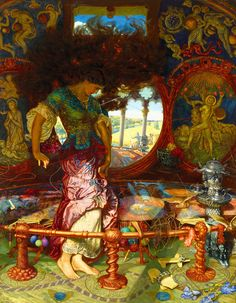The Lady of Shalott by William Holman Hunt, painted between 1886–1905