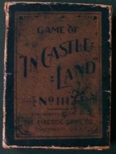 """Antique Card Game - Antique 1896 Game of """"In Castle Land"""""""