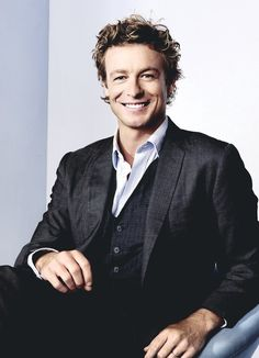 simon baker the mentalist smile