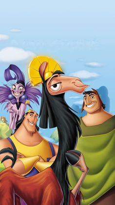 Watch Free The Emperor's New Groove : Movie Online Kuzco Is A Self-centered Emperor Who Summons Pacha From A Village And To Tell Him That His. Images Disney, Disney Art, Disney Movies, The Emperor's New Groove, Kuzco Disney, Groove Movie, Downton Abbey, Movie Inside Out, Emperors New Groove