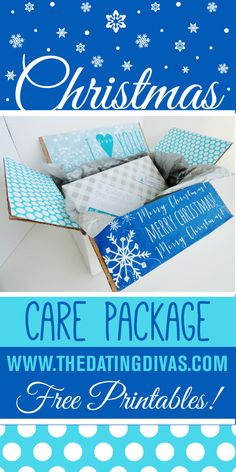Definitely using these on all the packages I send this Christmas! FREE printable cards, labels, and box decorations. www.TheDatingDivas.com