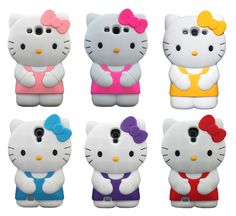 Hello Kitty Soft Silicone Gel Rubber 3D Case Cover For Samsung Galaxy S3 S4 S5 #UnbrandedGeneric