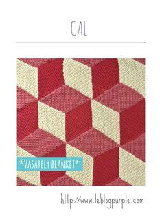Tuto à télécharger CAL Vasarely Blanket | le blog Purple