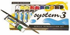 Introduction set 10 x 22ml tubes - Daler Rowney System 3 Original
