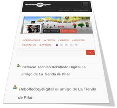 Perfil de la red local de Rebolledo Digital