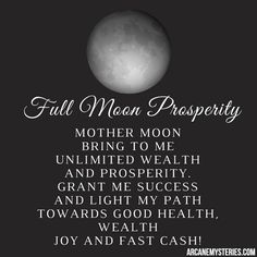 Full moon prosperity chant for health, wealth and success.