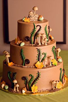 Cat's autumn themed wedding cake