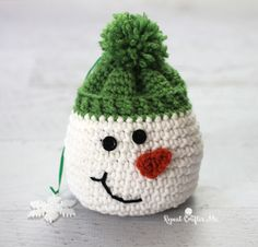 Download Snowman Sack Crochet Pattern (FREE)