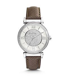 Catlin Pavé Silver-Tone Watch