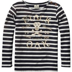 Scotch & Soda Kids - Boy's Sailor Tee with Worked Out Artwork - Black