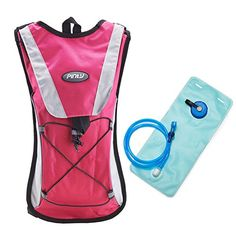 Pinty 2L Hiking Backpack Hydration Pack with Water Bladder Cycling Climbing Camping Bag Pink * Read more reviews of the product by visiting the link on the image. (This is an Amazon affiliate link)