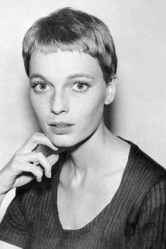 "summers-in-hollywood: ""Mia Farrow for Rosemary's Baby, 1968 "" Mia Farrow Pixie, Short Hair Cuts, Short Hair Styles, Divas, Rosemary's Baby, Widow's Peak, Best Short Haircuts, Faye Dunaway, Gena Rowlands"