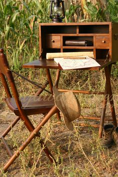 Explorers once carried portable desk like this as they traveled around the world. We present this Durban Writing Desk to you as one of our masterpieces.