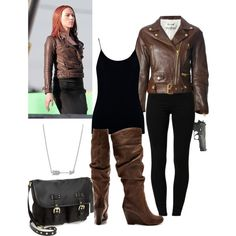 """Captain America The Winter Soldier: Black Widow"" by offthepaige on Polyvore"