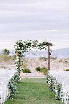 Rustic Wedding Arch Green White Wedding Backdrop Arch Ceremony Elegant Greenery-Filled Desert Wedding (With A Puppy!) - Bridal Musings wedding ceremony Elegant Greenery-Filled Desert Wedding (With A Puppy! Wedding Arch Greenery, White Wedding Arch, Wedding Arch Rustic, Wedding Ceremony Arch, Outdoor Wedding Decorations, Elegant Wedding, Floral Wedding, Wedding Arch With Flowers, Wedding Altars
