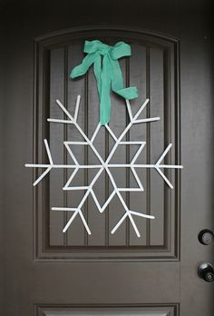 popsicle sticks snowflakes