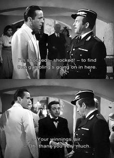 """Casablanca"" - Bogart, Rains & Lorre Humphrey Bogart, Bogart And Bacall, Classic Movie Quotes, Classic Movies, Famous Movie Quotes, Old Movies, Great Movies, Vintage Movies, Casablanca 1942"