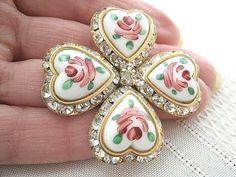 Vintage hearts brooch.