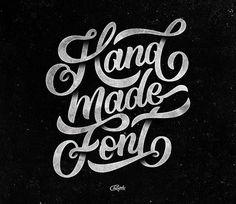 #handmadefontlogo from @champolatype Dark but positive! #handmadefont