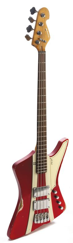 Sandberg 'Forty Eight' Bass - A quite extreme design for me to pin,but, I played one of these a couple of months ago and I was really surprised how much fun it was...serious growl. Not for everyday, but lots of surprises....K