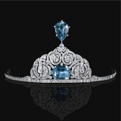 """Cartier Tiara 1912 """"The Jewels of the Romanovs"""" Russian aquamarine parure, originally owned by Princess Paley"""