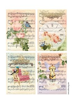 A4 printable-  pretty items in this etsy shop.  Of course not free, but worth the small amount of cost.