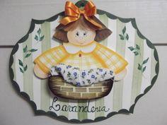 Placa menina lavanderia | Artesanatos Ingrid Carvalho | 17948B - Elo7