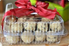 This is a great gift- instead of premade cookies, give frozen cookie dough. Then they can make as many at a time as they please.