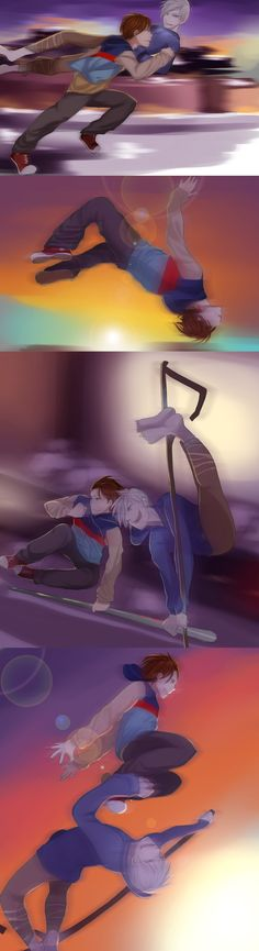 Parkour by Monksea.deviantart.com on @deviantART  Don't ship them, but think they would have a relationship more akin to Shawn and Gus's from Psych