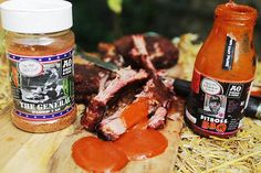 """The General"" is the boss of general purpose rubs and works so well on ribs, we decided on Memphis style dry rub only ribs, dipped into Angus & Oink Pitboss BBQ sauce."
