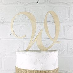 Amazon.com: 6 inch Monogram Acrylic Wedding Cake Topper Personalized in Any Letter A B C D E F G H I J K L M N O P Q R S T U V W X Y Z: Handmade