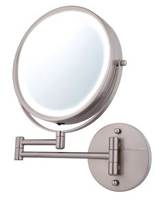 Led light wall mounted makeup mirror products pinterest wall ovente wall mount makeup mirror battery operated led lighted 1x10x magnification aloadofball Gallery