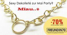 Wow! Die Tanz Party im Mai startet bald! Schnell noch ein cooles Accessoire für Dein sexy Dekolleté shoppen! HIER geht es zum 70% Rabatt. #rabatt #schmuck #sale #mai #tanz #kette #accessoire #michaleo #shop #onlineshop